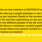 KEONYS launches the ENOVIA collaborative platform at Arc International