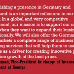 Keonys continues its international expansion in Germany and Switzerland