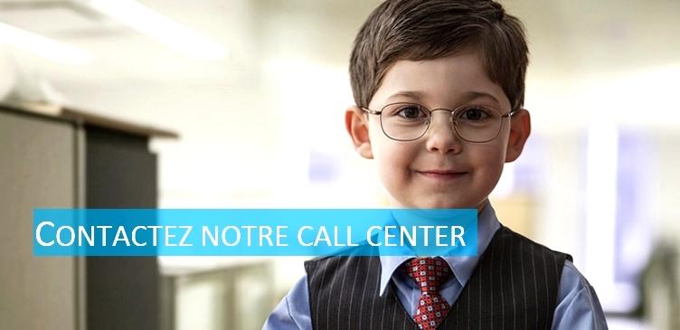 Contactez en cliquant sur cette page notre call center