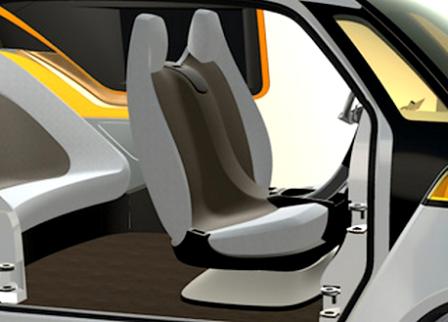 la voiture autonome Link&Go développé sur la plateforme 3DEXPERIENCE de Dassault Systèmes