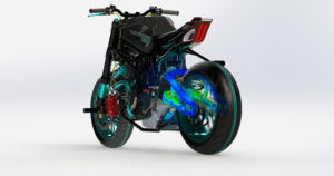 keonys experts simulation numérique simulia IRC : SIMULIA Motorcycle Analysis - Swingarm simulation composite image