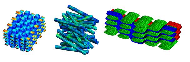 Exemple de microstructures générées avec Multimech