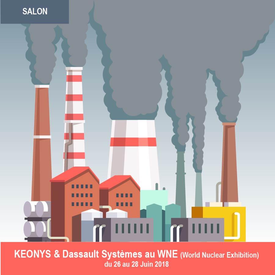 SALON – KEONYS au salon WORLD NUCLEAR EXHIBITION avec Dassault Systèmes – 26.06.18 au 28.06.18