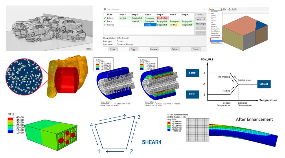 abaqus simulation SIMULIA matériaux